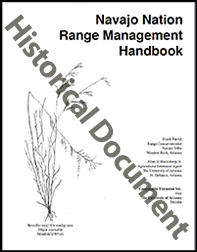 Cover of the Navajo Nation 									Range Management Handbook
